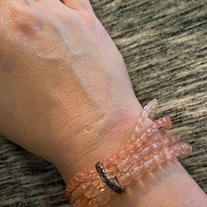 Peachy Beaded Bracelet